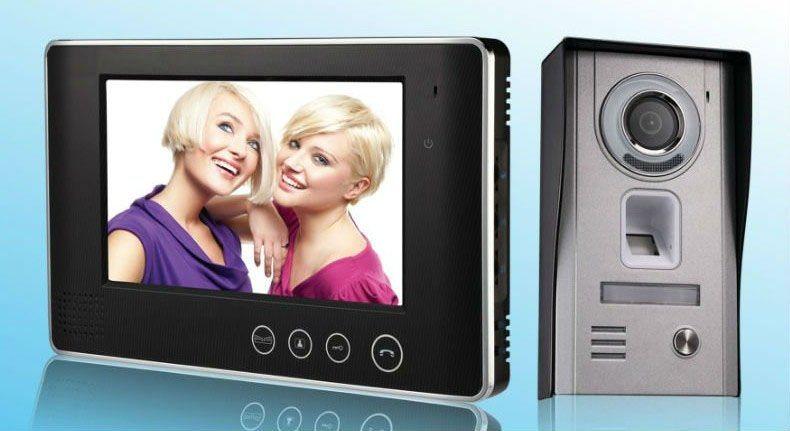 7 Inch Fingerprint Video Door Phone for Building Intercom System
