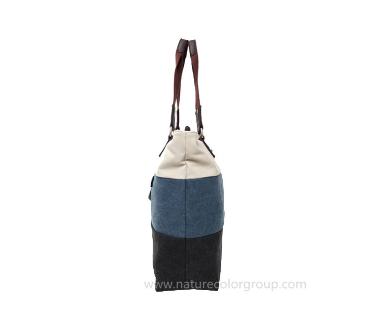 Trendy Canvas Tote Handbag for Ladies