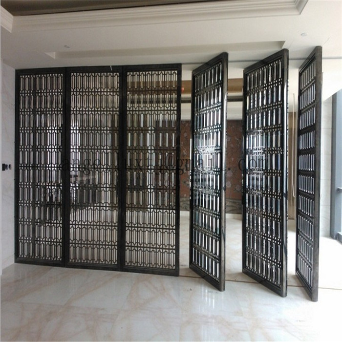 New Style Decorative Metal Screen 304 Stainless Steel Wall Panel Folding Screen to Divide Room
