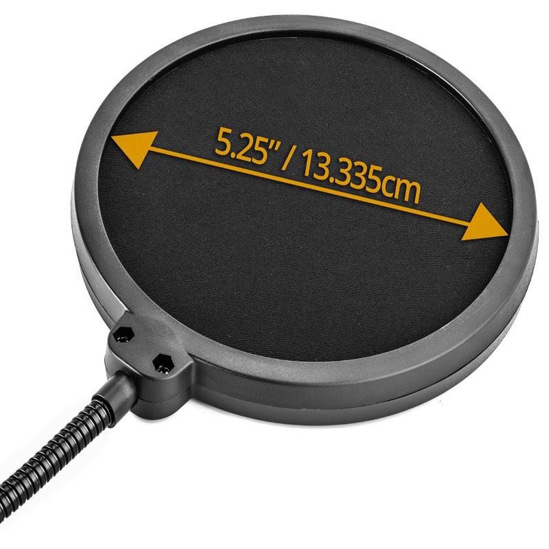 "Mpf-2 Broadcasting / Recording / Karaoke Microphones - 6"" Diameter Pop Filter Wind Screen"
