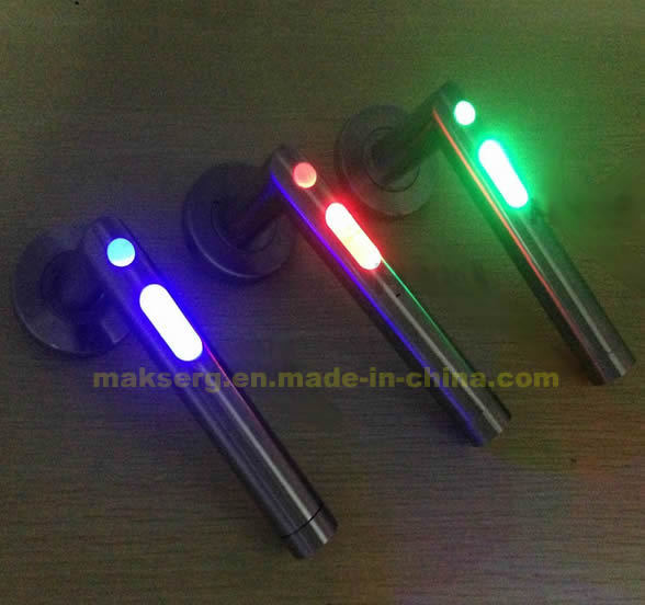 China LED Light Door Lever Handle Factory Manufacturer Stainless Steel OEM