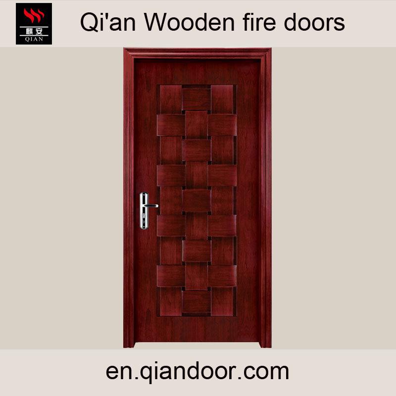 Black Walnut Entry Door Interior Wooden Fire Door