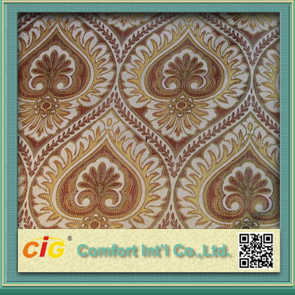 Chenille Upholstery Furniture Jacquard Fabric Home Textile