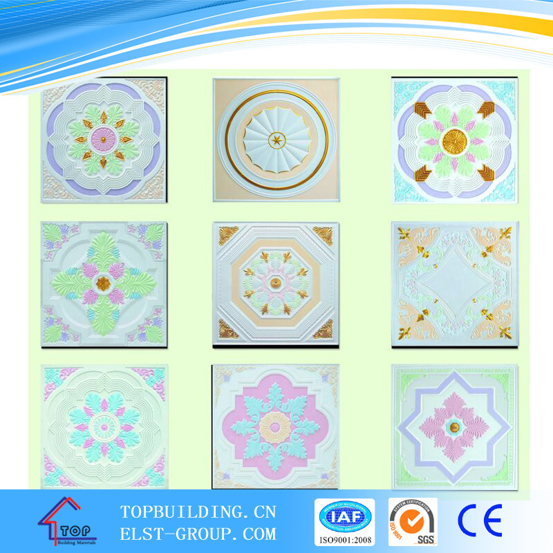 Colorful Gypsum Ceiling Tiles/Fiber Gypsum Ceiling/Gypsum Ceiling/595*595*9mm