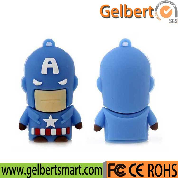 Cartoon America Super Hero USB Flash Driver for Promotion