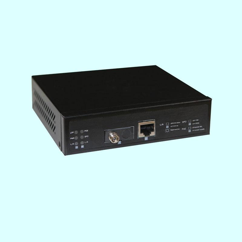 Gigabit Poe Fiber Media Converter with Sc/FC/St Fiber Port (DS0201G)