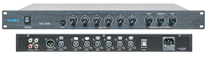 Sm-2600 Professional Frequency Shifter Audio Processor Equipment
