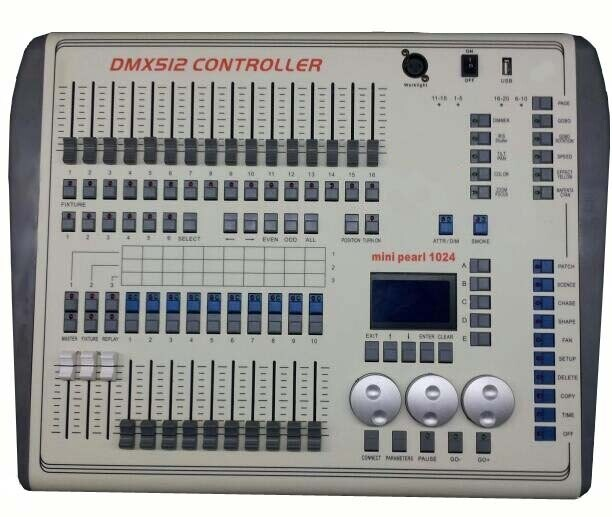 Stage Lighting DMX 512 Console DJ Controller Equipment Mini Pearl 1024 Controller