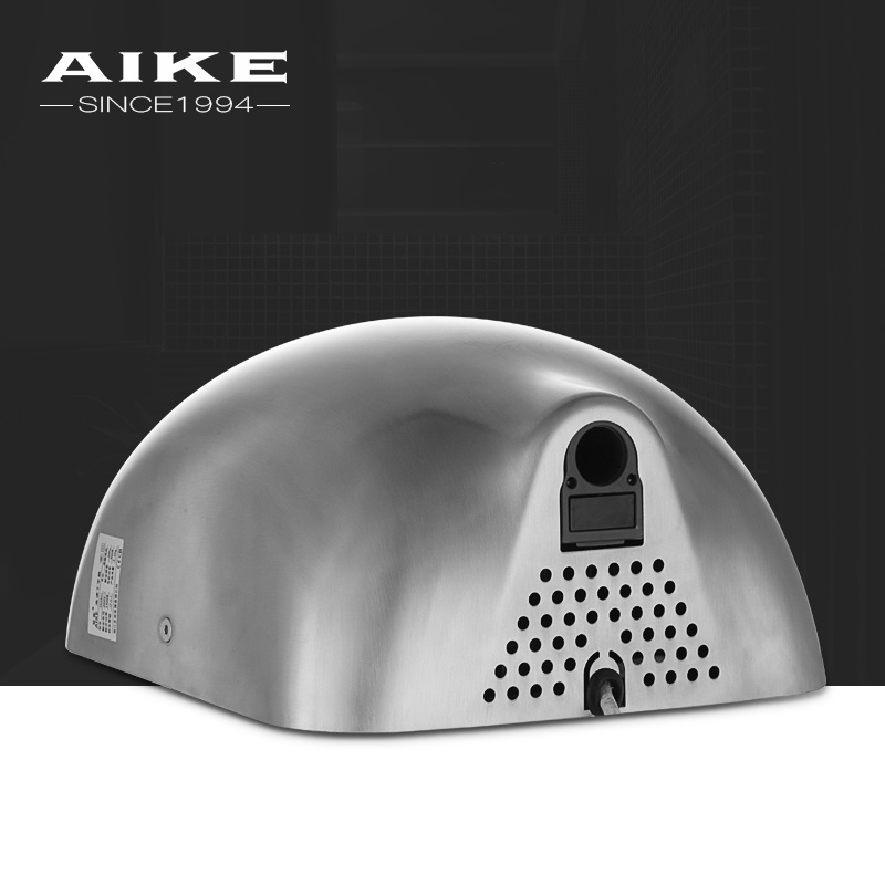 AK2801 Recessed Hand Drying Machine Bathroom Toilet High Speed Stainless Steel Jet Air Hand Dryer