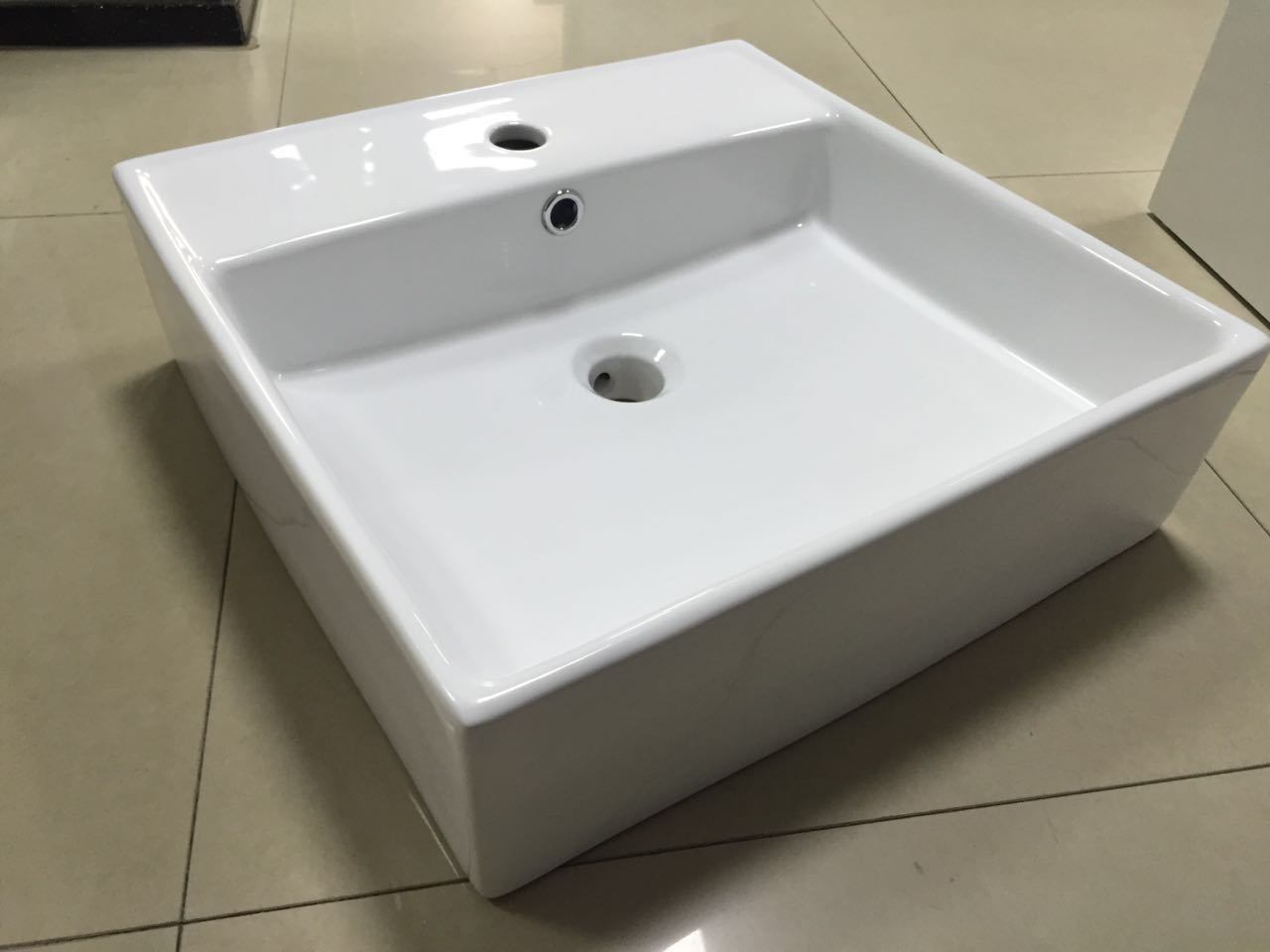 Square Bathroom Wash Ceramic Basin (7094A)
