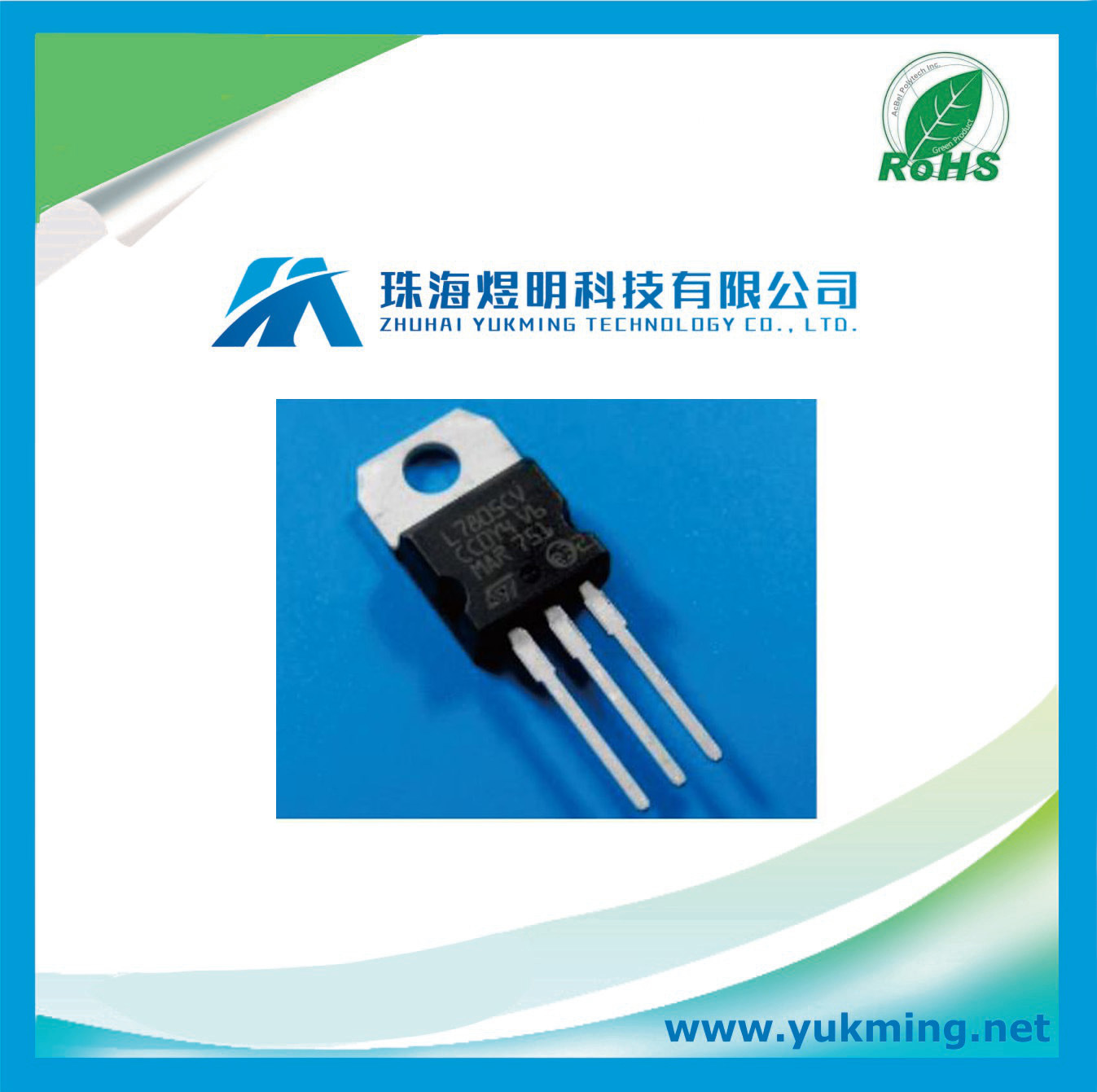 Electronic Component Transistor L7805CV Mosfet