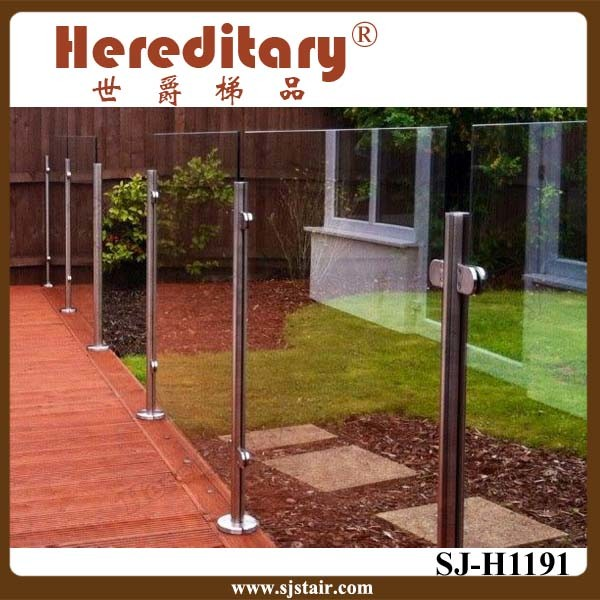 Stainless Steel Glass Railing Balustrade Stainless Steel Balcony Railing (SJ-H1457)