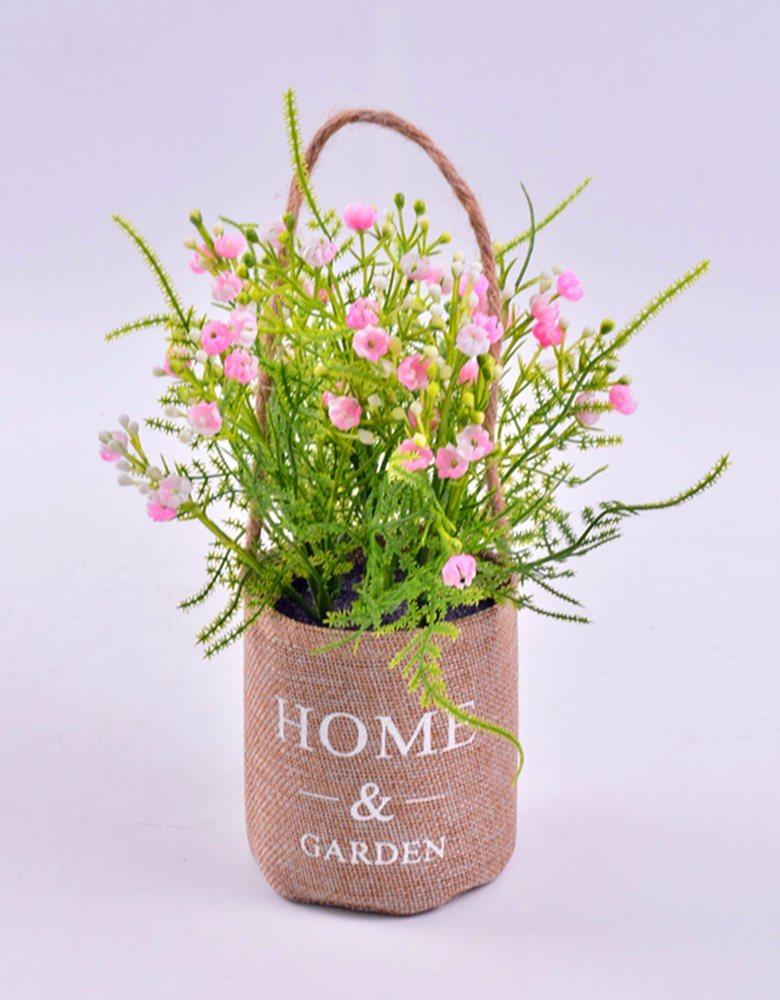 Beautiful Handwork Foam Flower in Flax Pot