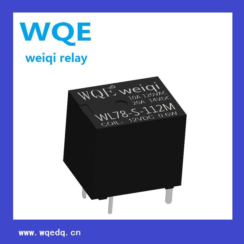 (WL78) Miniature Automotive Relay Black Cover Auto Parts for Automobile