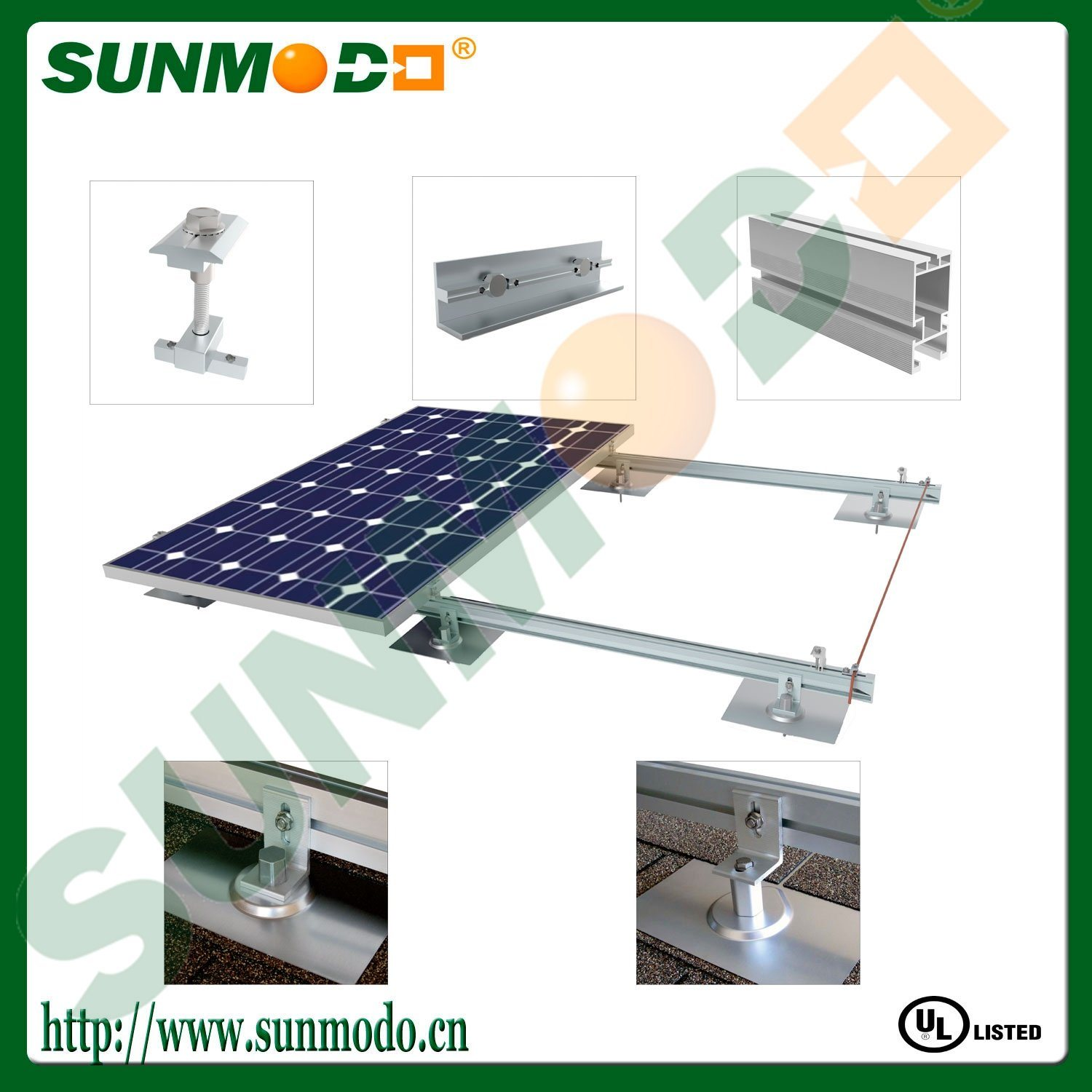 Bitumen Rooftop Solar Panel Mounting System