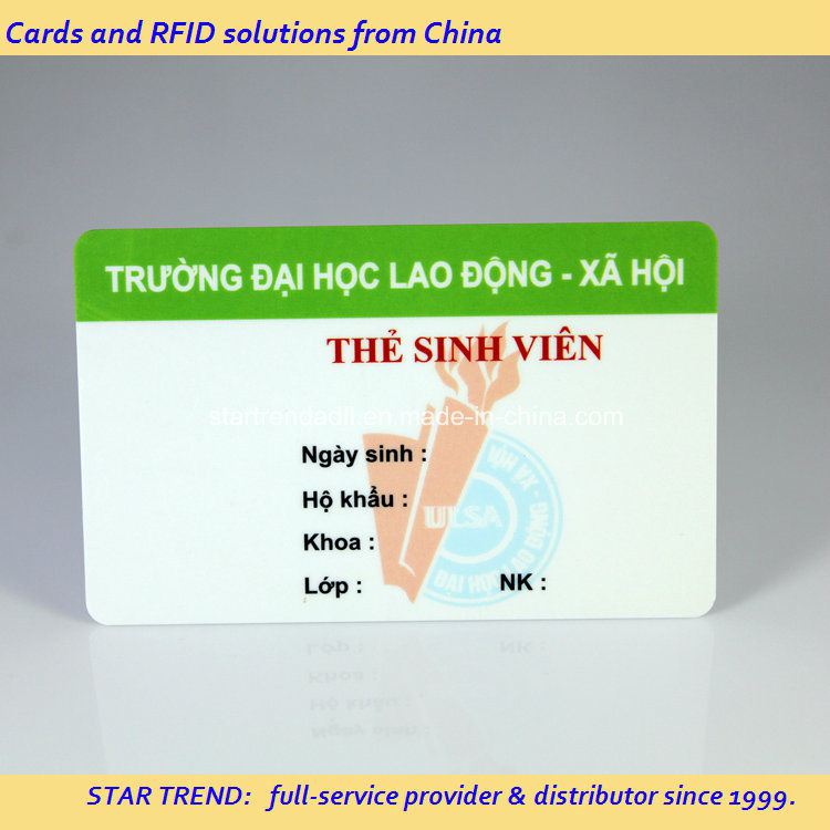 Emergency Service Card Made of PVC with Magnetic Stripe (ISO 7811)
