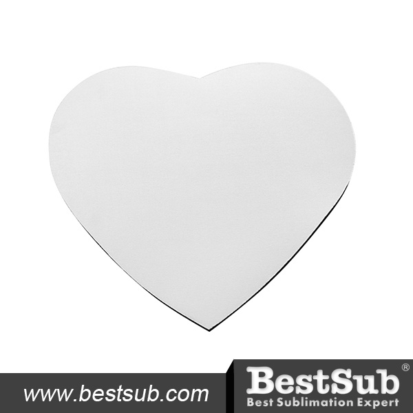 Bestsub 3mm Heart Shape Sublimation Personalized Mouse Pad (SB68-16)