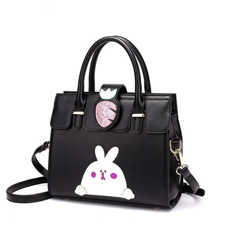 New Designer Cartoon Turnip and Rabbit Fashion Kids′ Handbag