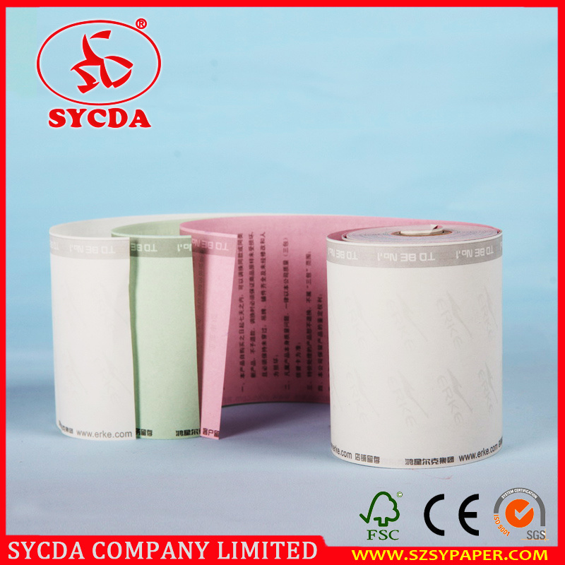 3ply 55g Carbonless Paper Rolls Cash Register Paper Roll