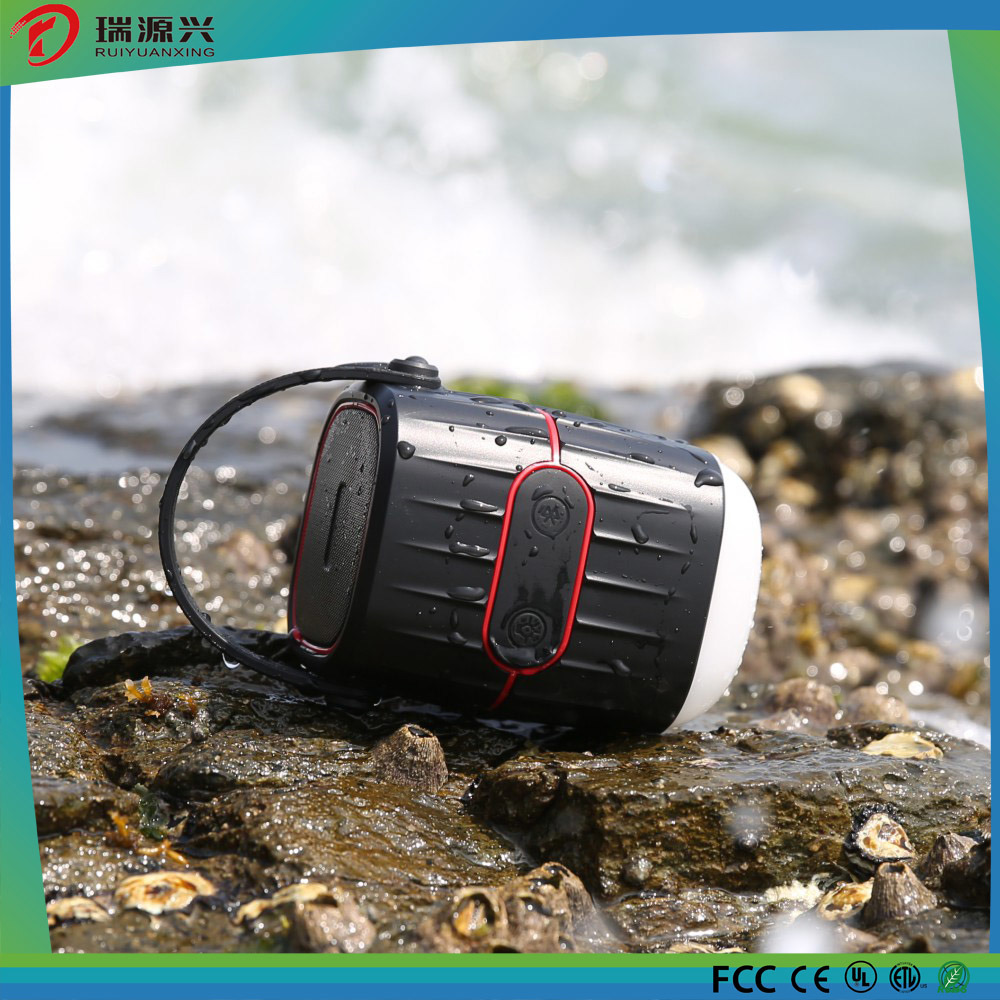 WaterProof Bluetooth Speaker with Power Bank and Camping Light