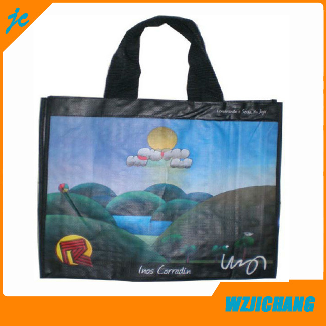 Promotion Recycle Laminated PP Woven Shopping Bag