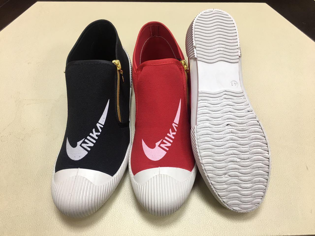 Vulcanized Shoes PVC out Sole Casual Canvas Kids Shoes