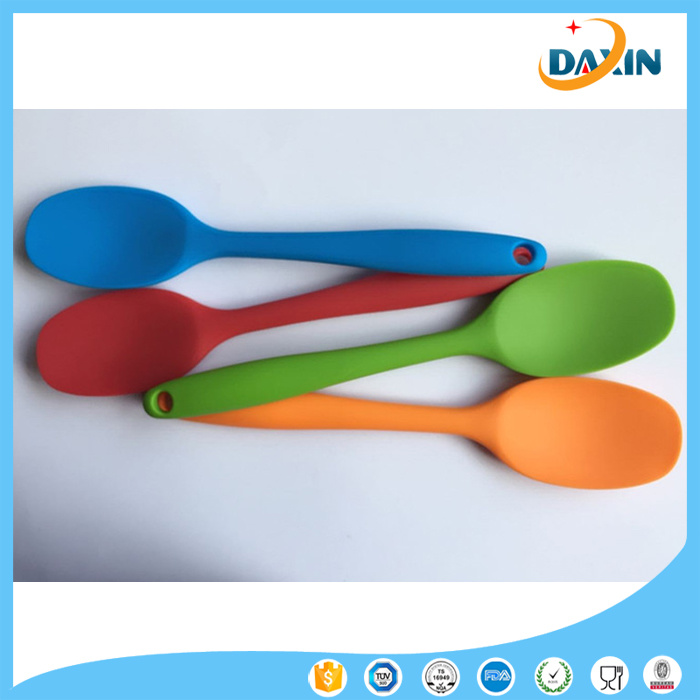 Multi-Color Household Food Grade Silicone Spoon