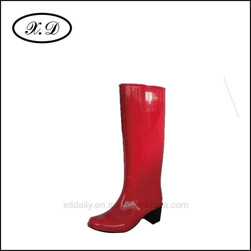 Fashion Rain PVC Boots for Ladies (BX-028)