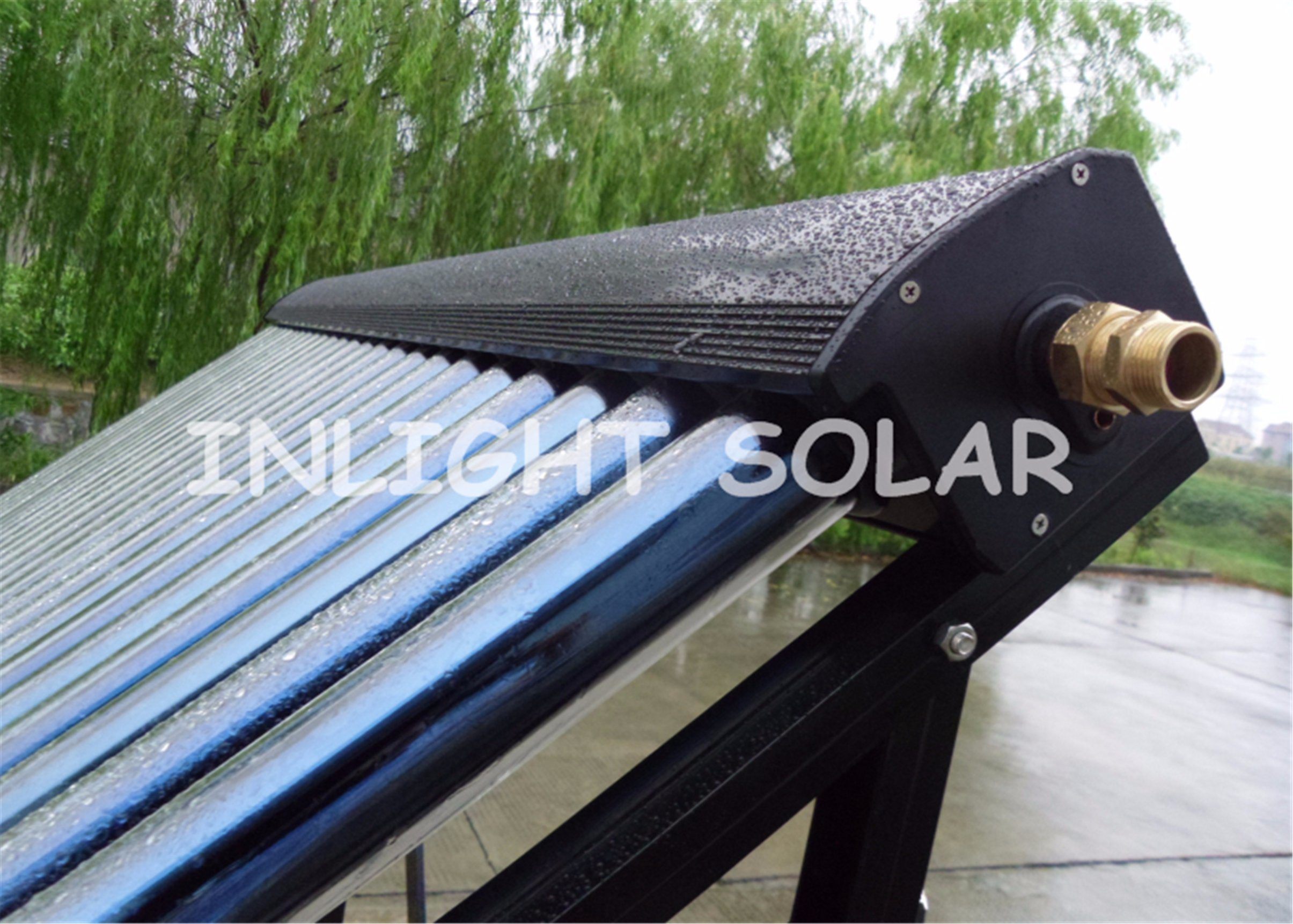 24tubes Aluminum Alloy Heat Pipe Solar Collector
