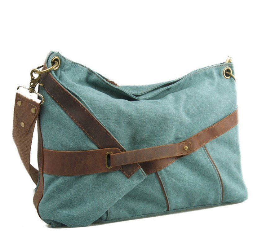 Young Ladies′s Canvas Leather Shoulder Bag (RS-6625)