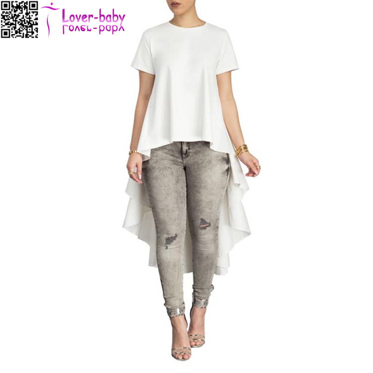 Sleeves O Neck Solid T-Shirt for Yong Girls Shawl Design L572-1