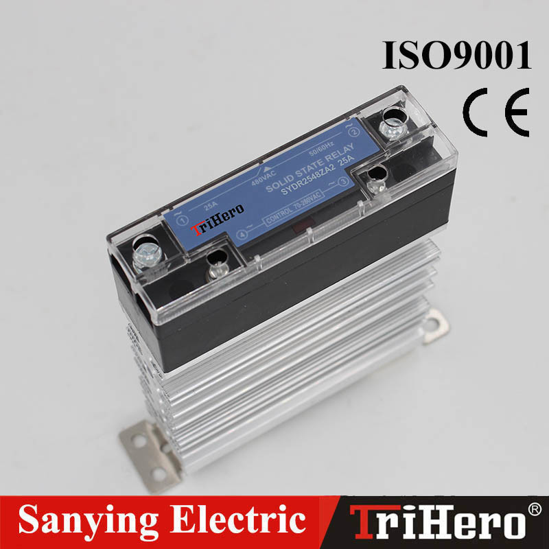 40A DIN Rail Mount AC Input SSR Solid State Relay