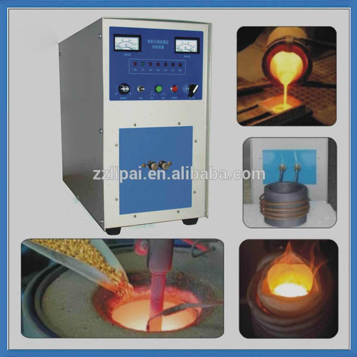 Induction Heating Melting Furnace Electric Tilting Furnace for 50kg Gold