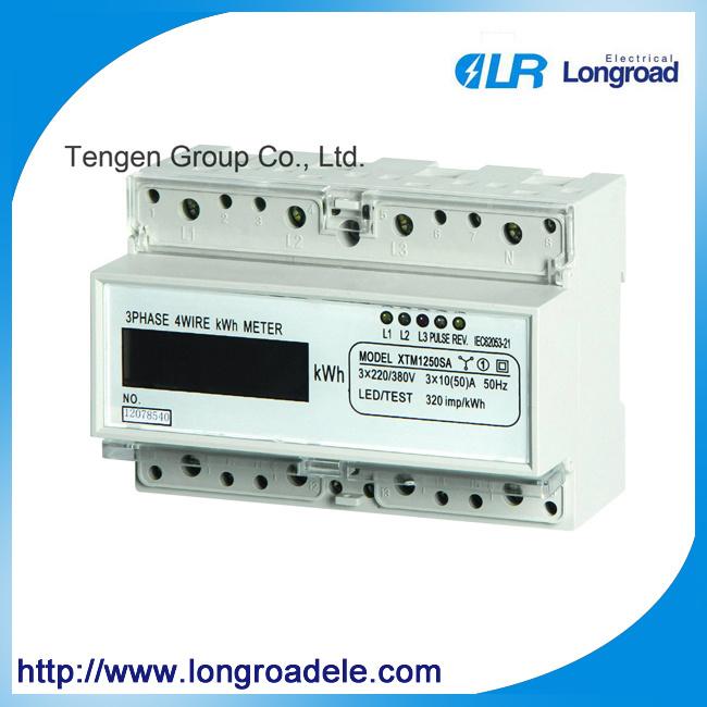 Mini Type DIN Rail Installation Three Phase Electronic Watt-Hour Meter (DTS256 (II))