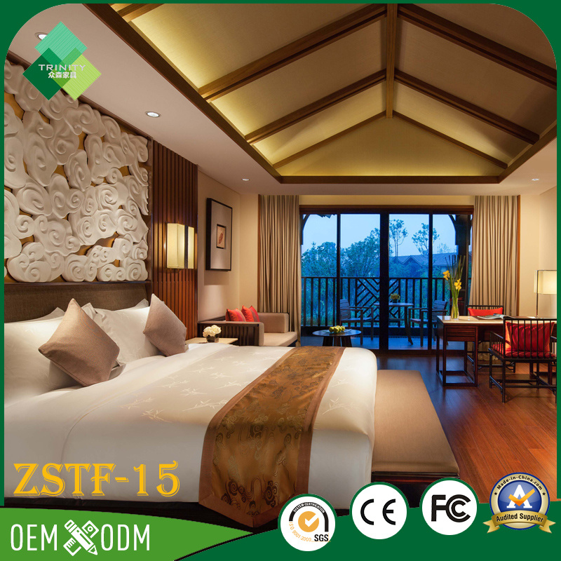 Modern Fashion Style Birch Bedroom Set of Hotel Furniture (ZSTF-15)