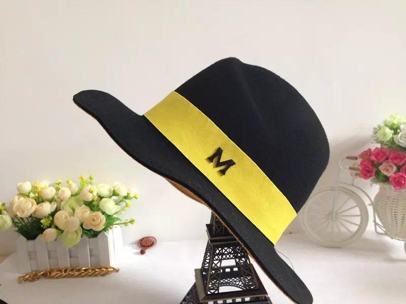 Wholesale Wool Felt Wide Brim Black Fedora Hats for Men