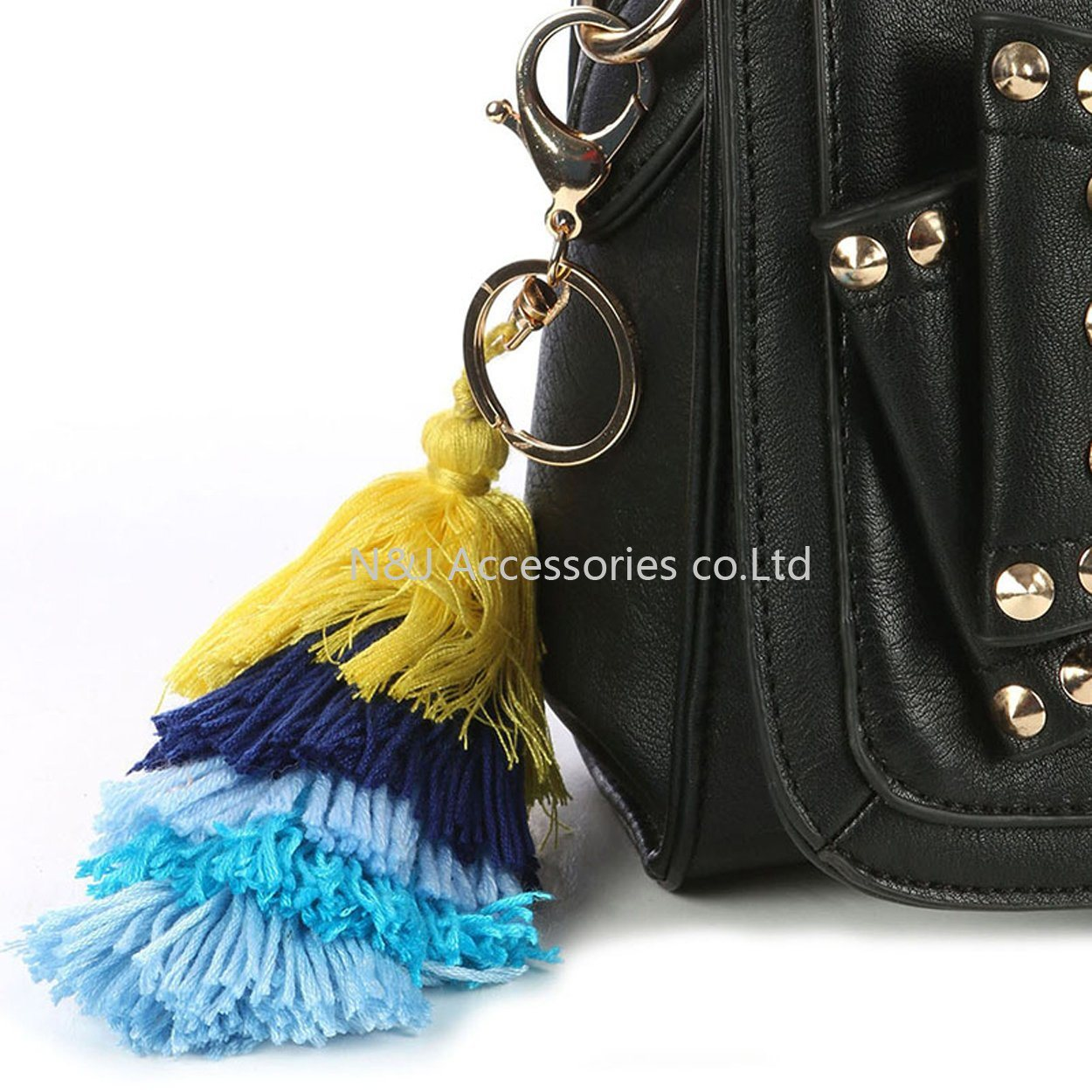 New Tassel Charm Triple Layer Cotton Ribbon for Key Chains Jewelry