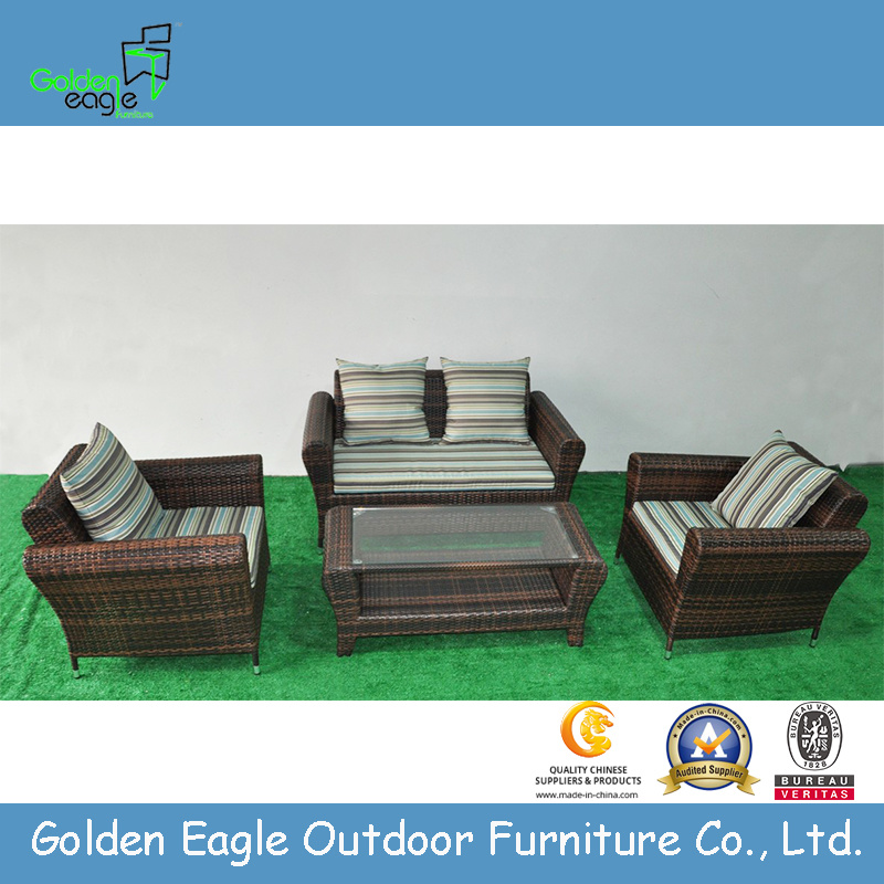 Retro Popular Garden Wicker Sofa Set (S0088)