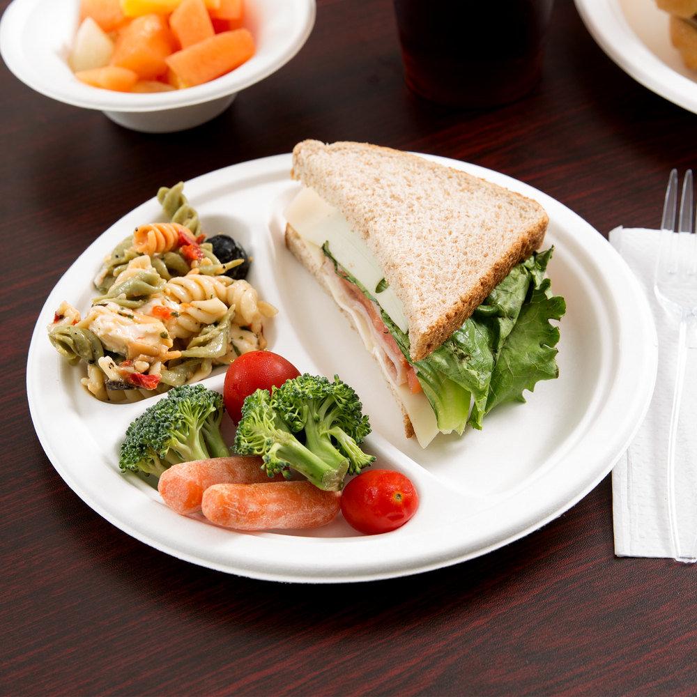 Biodegradable Sugarcane Tableware, Sugarcane Plate