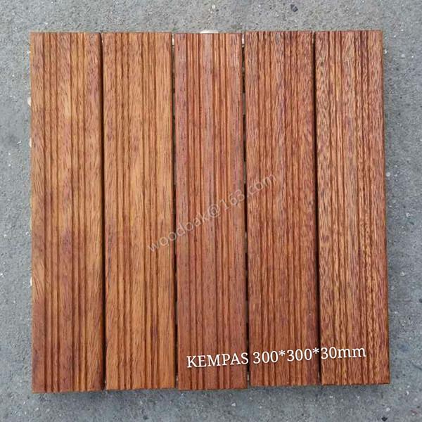 Hardwood Flooring Decking Flooring for Kempas Sand Beach Flooring