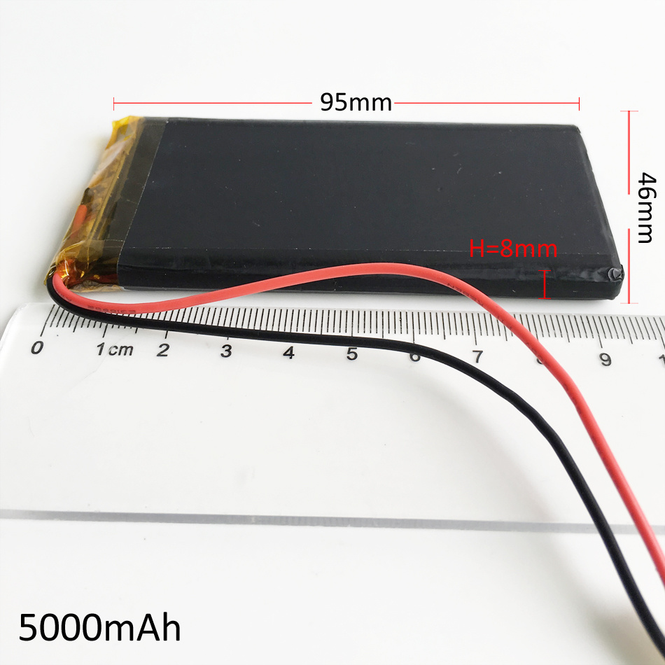 3.7V 5000mAh 804695 Lipo Lithium Polymer Rechargeable Battery for Power Bank Mobile Phone Pad portable DVD Tablet PC