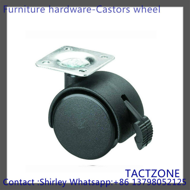Quality Top Plate Hot Furniture Hardware Leveling Caster Wheels Brake
