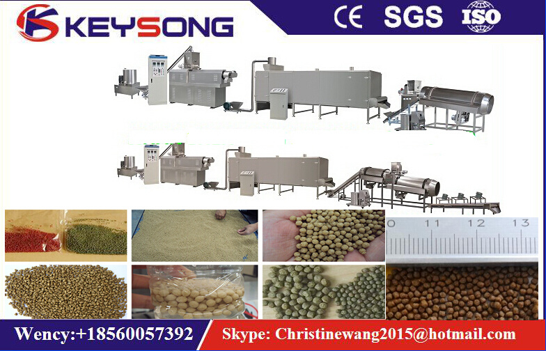 Pet Feed Floating Fish Food Processing Machine