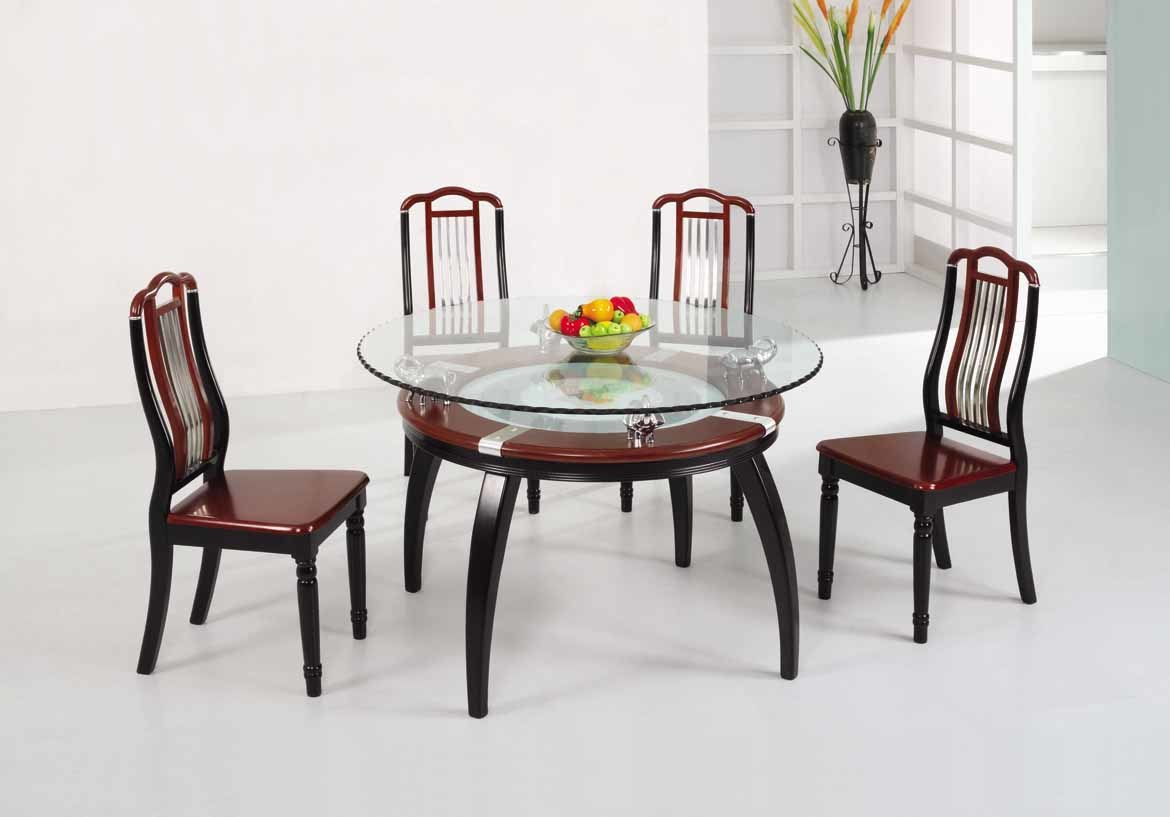 Wooden Dining Set ~ Chair dining koa set table wood pads cushions
