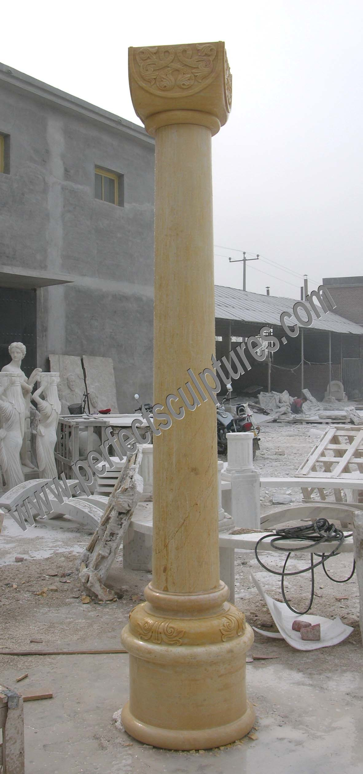 Natural Stone Columns : China jade buddha carving