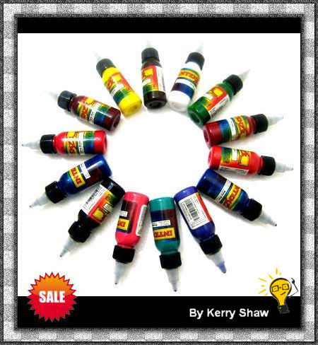Earth Tones Color Tattoo Ink Set - 10 Bottles 1oz 2oz or 4oz