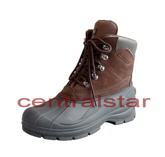 best mens suede leather lace up winter snow boots 4078