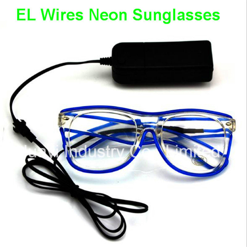 EL Wires Light up Illuminated Clear Lens Sunglasses