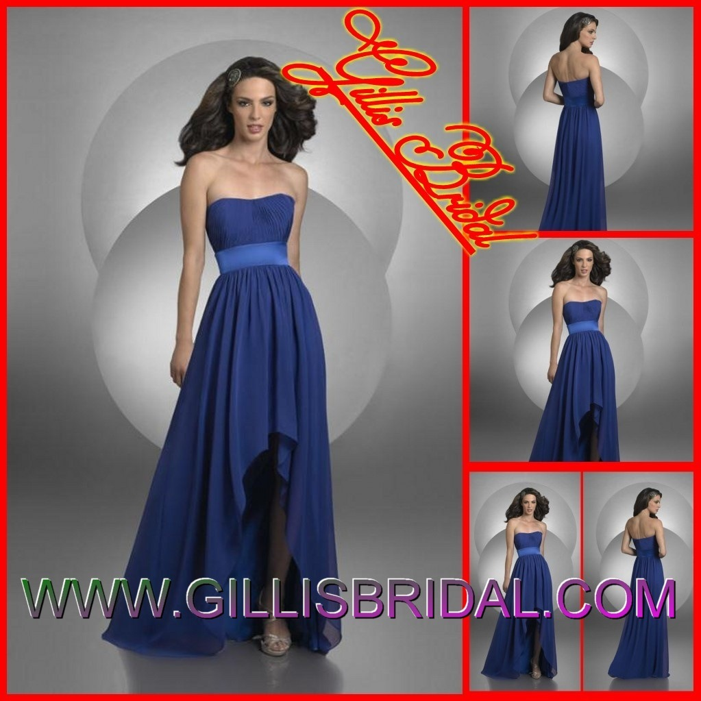 Wedding dresses hot cascades strapless hi lo pleated for Night dress for wedding night