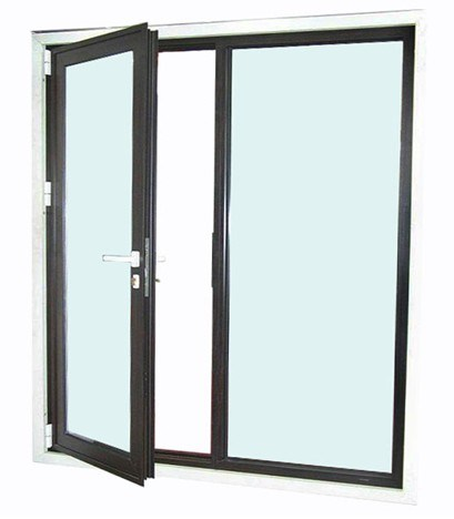 China single hinged aluminum door photos pictures made for Double hinged french doors